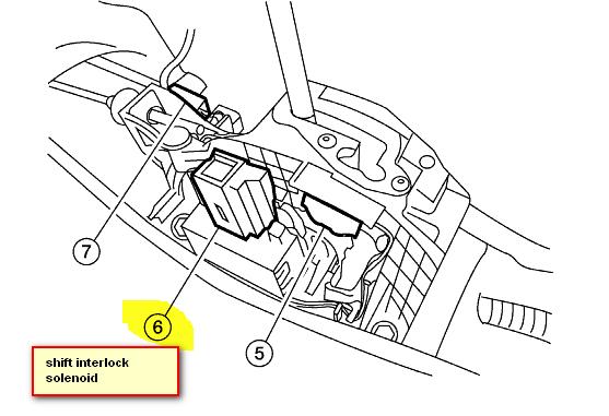 2005 nissan altima shift lock solenoid