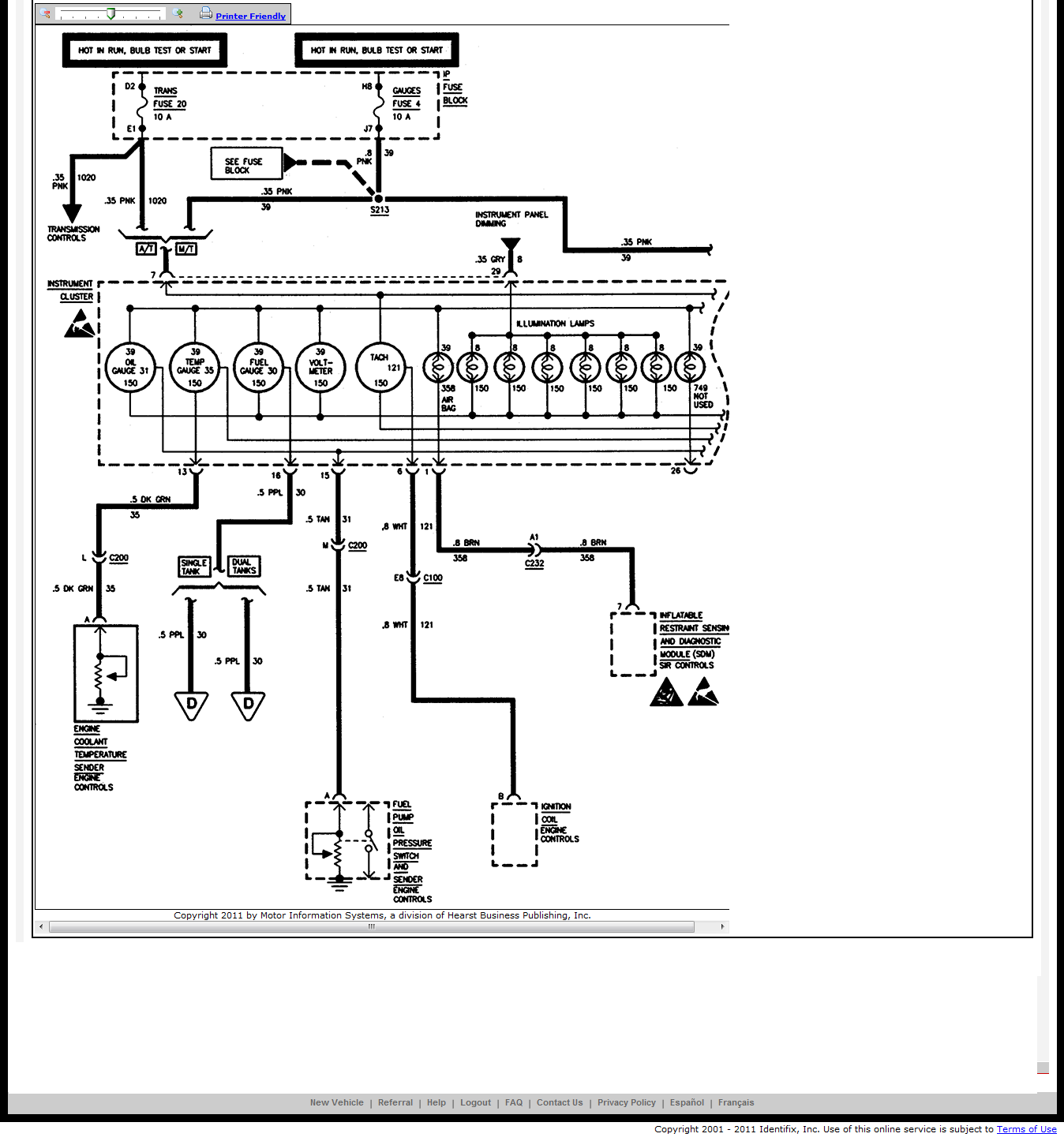 wiring diagram for 1998 chevrolet tahoe
