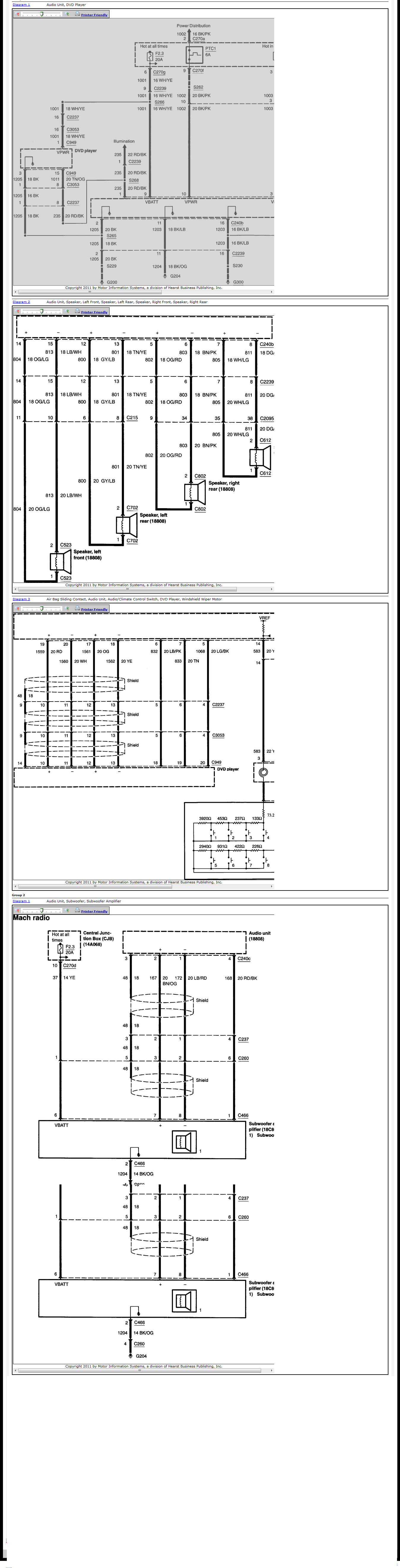 Wiring Diagram 2004 Mercury Mountaineer Factory Dvd Start Building 99 Fuse Box I Have A 2003 With The 6 Disc Radio Rh Justanswer Com 1998 2002