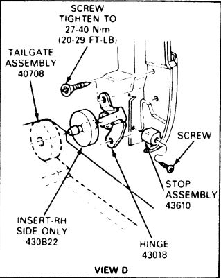 I Need A Diagram Of The Tailgate And Rear Hatch Window Locking And