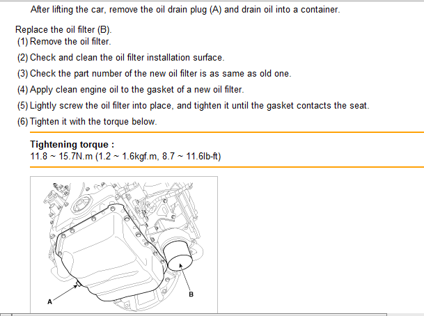 Where is the oil filter on the 2011 Sportage and what steps are ...