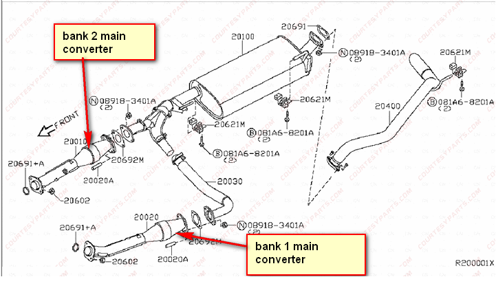 Procedure To Replace Catalytic Converters Of 2006 Nissan