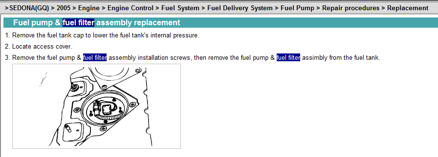 How Do You Replace The Fuel Filter On A 2005 Kia Sedona And Where Is Itrhjustanswer: 2005 Kia Sedona Fuel Filter Location At Gmaili.net