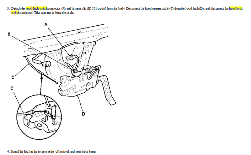 d latch pin diagram hood latch cable diagram 2000 tl factory alarm just goes off went off last night #3