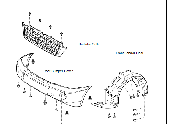 2006 Ford Fusion Bumper Replacement also Diagram Of Removing A Grill From A 2004 Toyota Sienna further Wiring also  on 1992 sierra grill