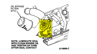 To Replace The Gasket You Remove The Oil Filter And Pressure Sensor From The Oil Filter Adapter Housing Remove The Retaining Bolts For The Adapter Housing