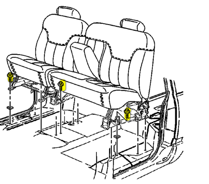 how do i remove the second row seat out of a 2004 gmc yukon in order Ford Flex Third Row Seating graphic