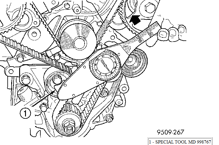 When Installing A Timing Belt On A 2000 Chrysler Sebring Jxi Conv And After You Pull The Pin On The Auto Tensioner Then