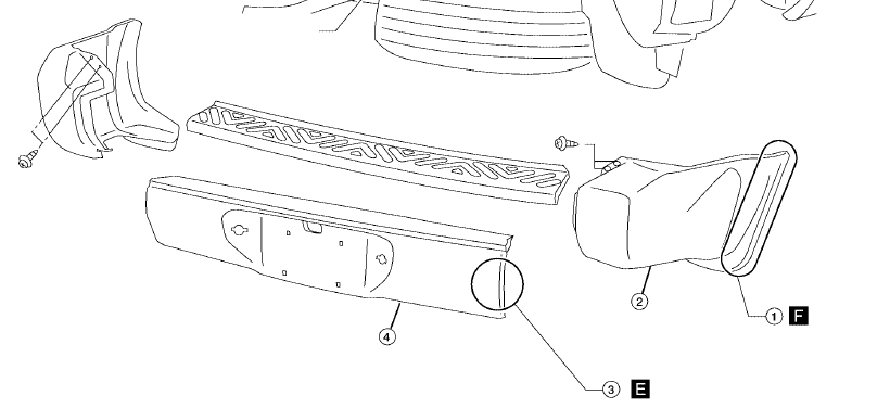 diagram of removing a grill from a 2001 dodge ram 3500