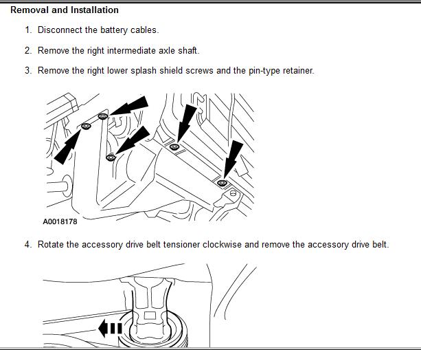 how do i remove the alternator from my 2004 mazda tribute v6