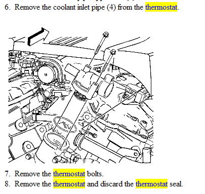 How do I change my thermostat in a 2005 Cadillac cts    3      6