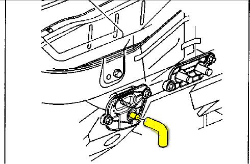 Where is the condensate drain tube on a 2003 pontiac montana