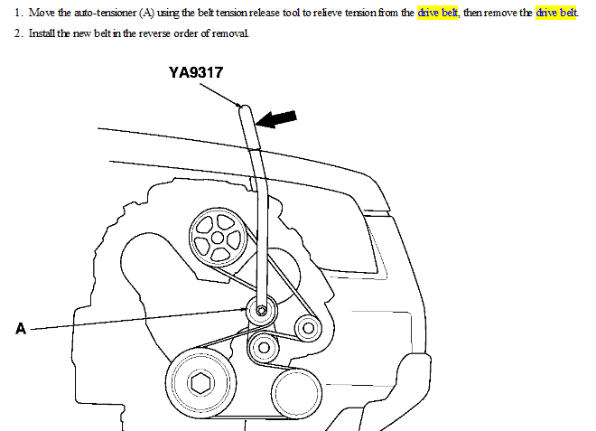 Dodge 318 Engine Diagram Exploded View besides Volvo S60 Serpentine Belt Replacement together with 94 Acura Legend Engine Diagram also Squealing Noise 2884329 together with Nissan Altima Serpentine Belt. on acura v6 timing belt
