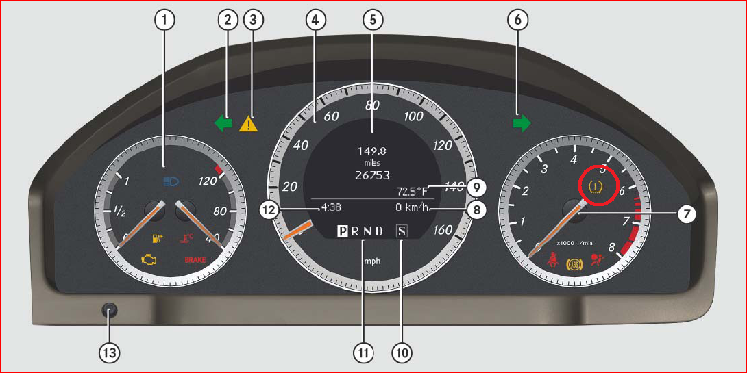 I Have A Yellow Warning Light On The Tachometer