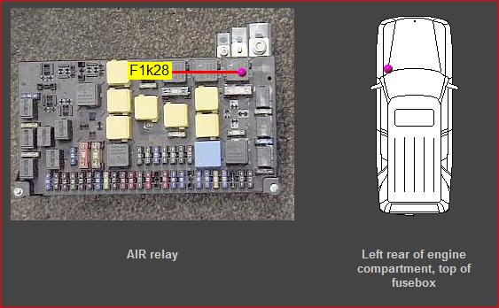 mercedes secondary air pump relay