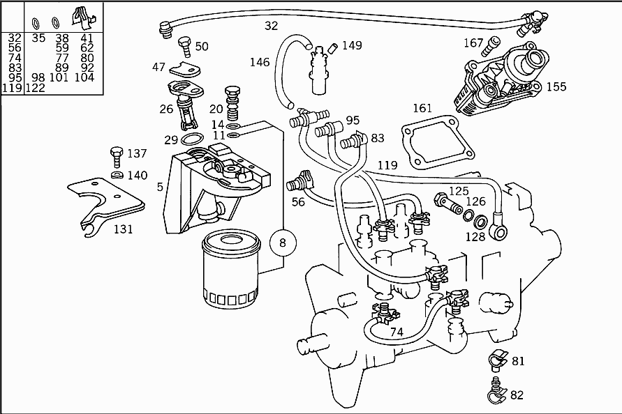 Mercedes Benz Fuel System Diagrams