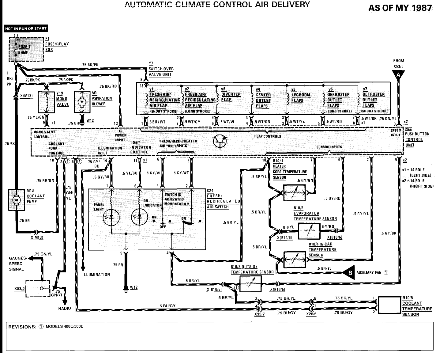 I Need The Schematics Of The Wiring Harness For The Power Antenna And The Air Conditioner