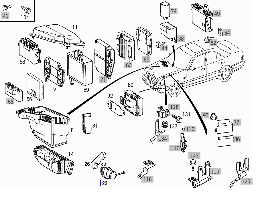 1999 Mercedes E320 Engine Diagram