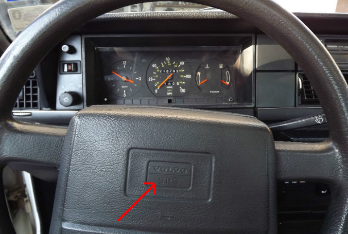 How to remove steering wheel horn button on 1993 Volvo 240 DL