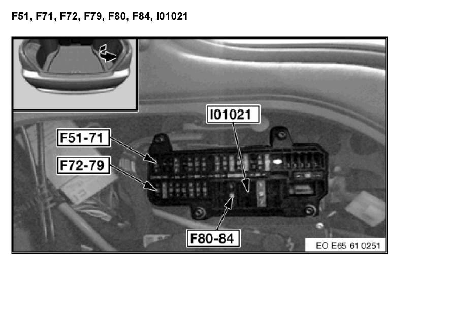 What Is The Location Of All Fuse Boxes  03 745li Bmw