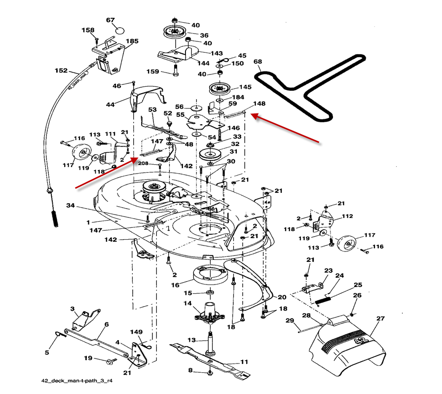troy bilt bronco drive belt diagram