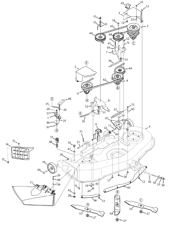 would like A diagram of belt install