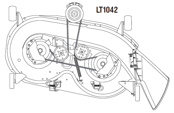 Have A Lt1042 And I Need A Diagram To Show How The Blade Belt Goes On