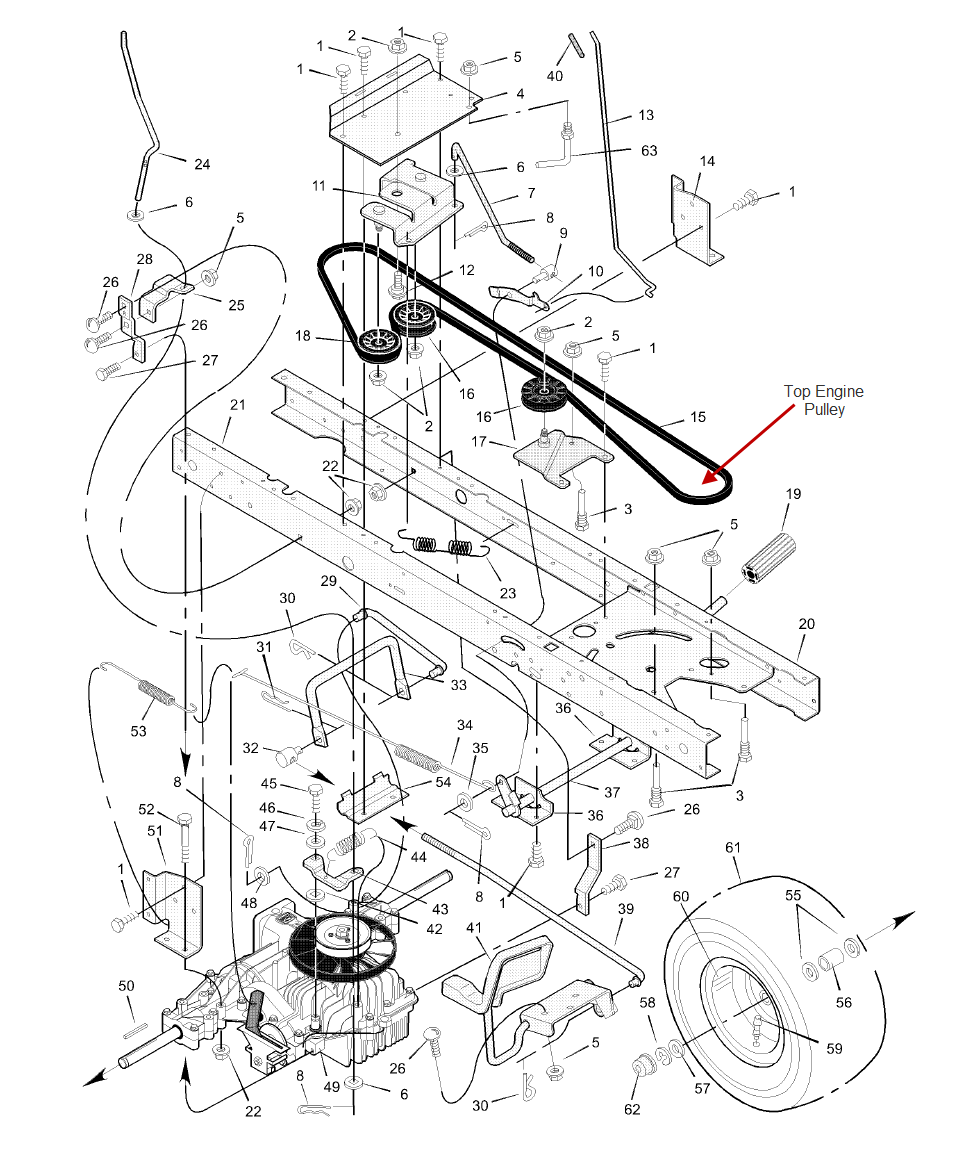 Ariens Drive Belt Diagram