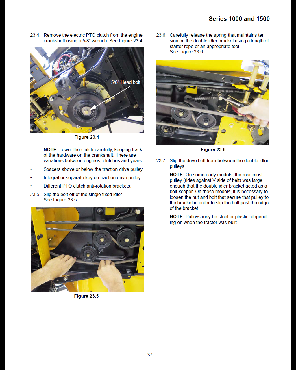 Need instructions on drive belt replace for cub cadet super