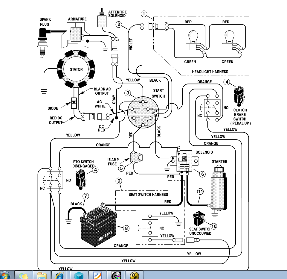 Cub Cadet 129 Wiring Diagram Not Lossing For Mower 2166 Model Imageresizertool Com Electrical 109