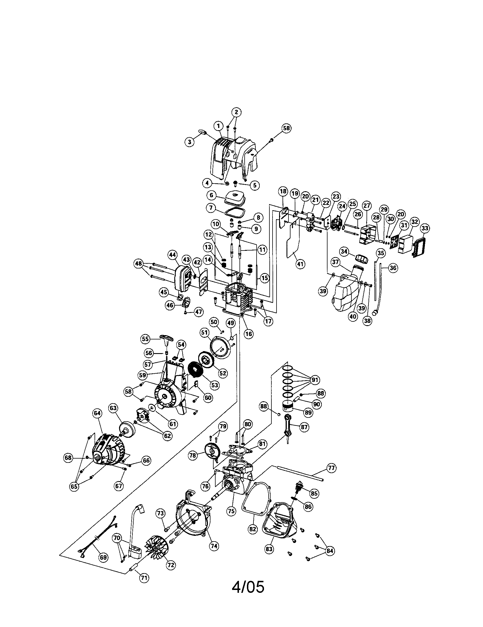 Craftsman incredi pull 4 cycle Mini tiller Manual