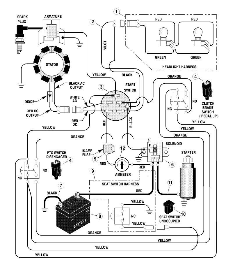 briggs and stratton 14 horsepower wiring diagram   48