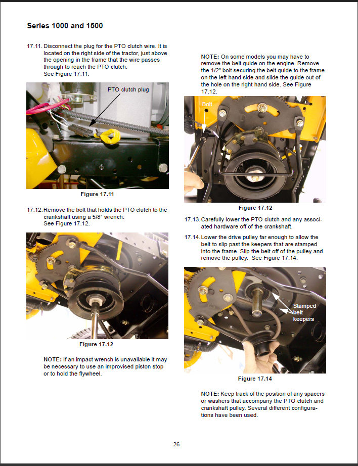 Cub Cadet Electric Clutch Removal Choice Image Diagram