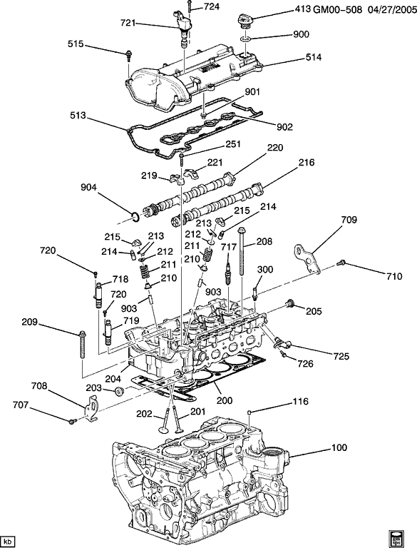 Cam Sensor For 2007 Pontiac G6 Engine Diagram