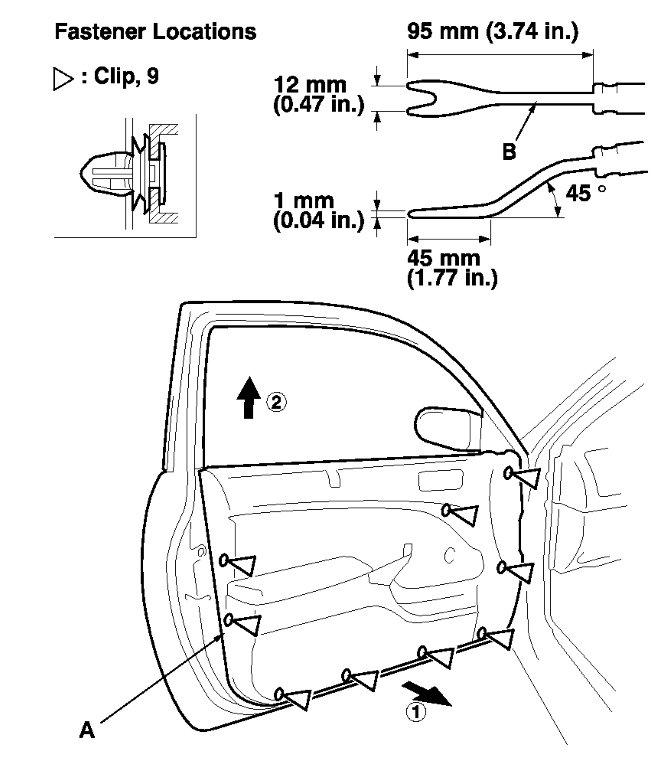 How Can You Remove A 2002 Honda Civic Ex Door Panel To Get To The