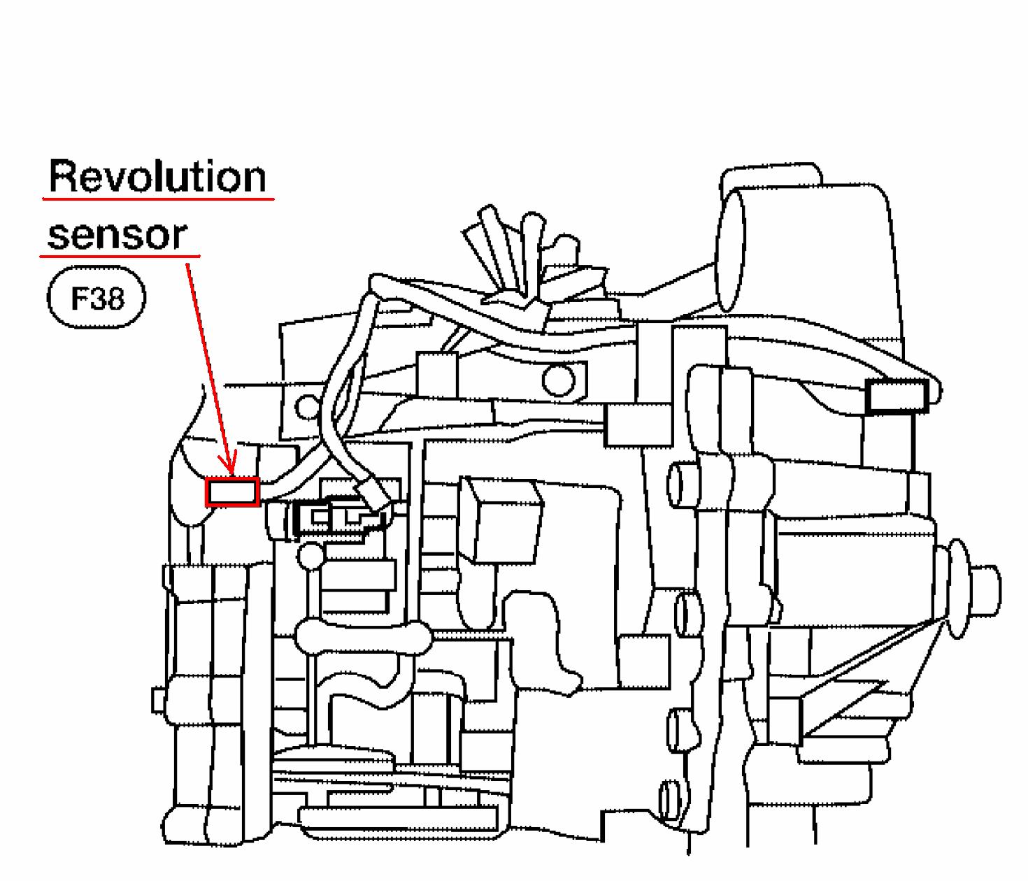 where is the revolution sensor on a 2004 nissan altima 4 cyl rh justanswer com