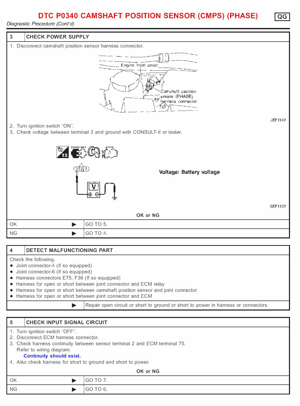 fault code p0335 nissan almera