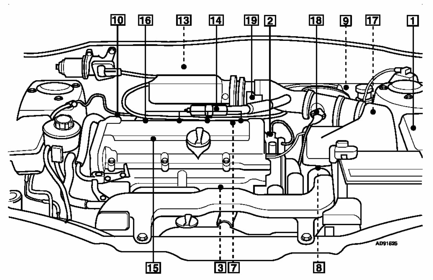 Can U Tell Me Were The Crank Angle Sencer Is Located On A