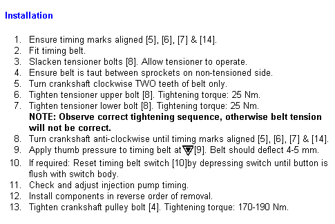 Timing Belt Diagram 4d56 - Belt Image and Picture