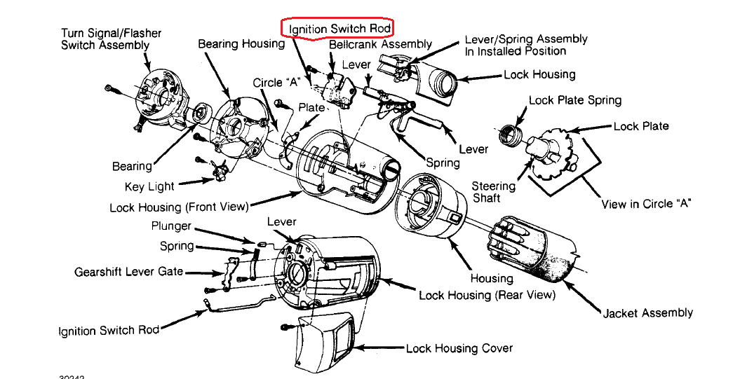 I Have A 1987 Jeep Wrangler With A Tilt Steering Column  Two Problems I Replaced The Key Switch