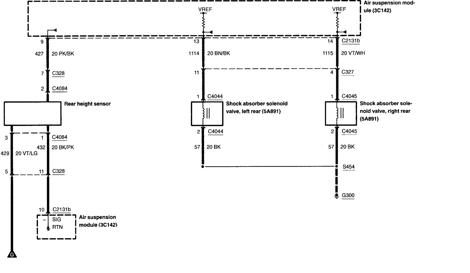 i have a 2003 lincoln navigator with air ride suspension ... 2003 lincoln navigator suspension diagram 2003 lincoln navigator fuse diagram