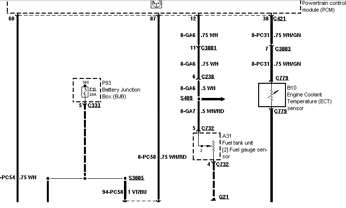 fuel gauge not working 1998 ford contour se 1975 ford f100 fuel gauge wiring diagram ford fuel gauge wiring schematic