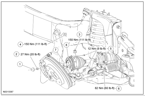 ford ranger 4x4 front hub diagram