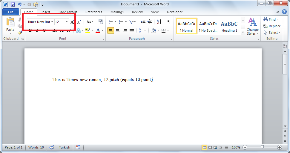 In Microsoft Office Word 2007 If I Select The Times New Roman Font