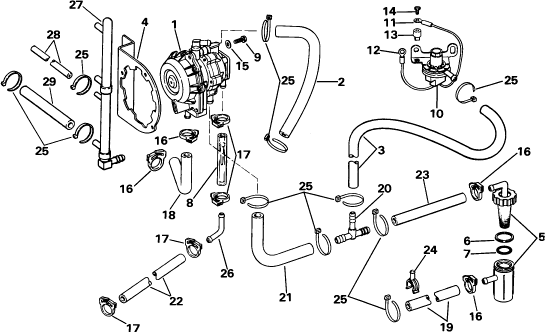Need Fuel Diagram For A 1985 Gt 150 V6 Fuel Primer Connections