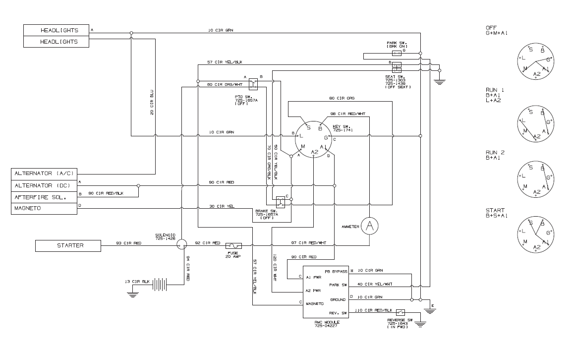 Where Can I Get A Electrical Schematic For A Lawn Tractor