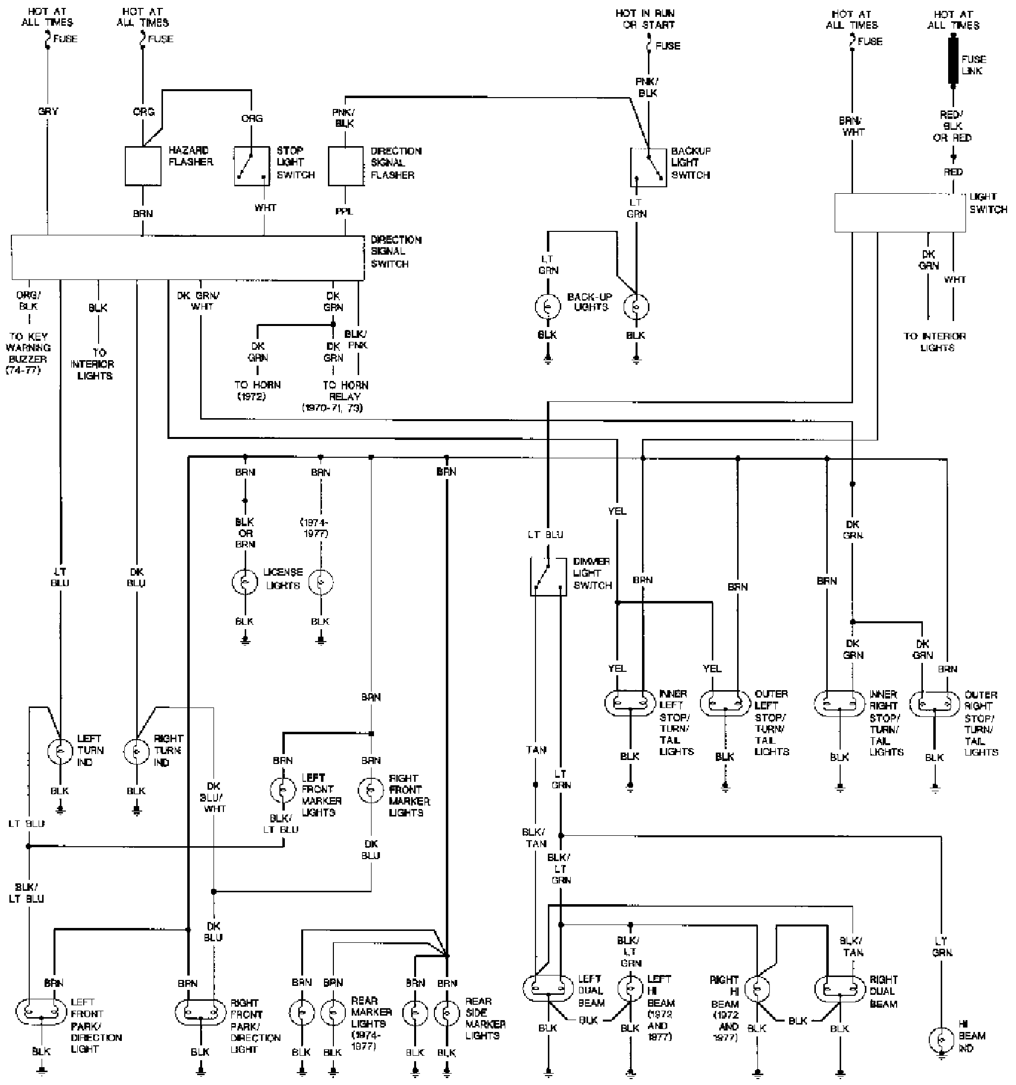 1970 Pontiac Firebird Wiring Diagram Diagrams 1986 Fuse I M Working On My Formula All The Lights Trans Am 1968