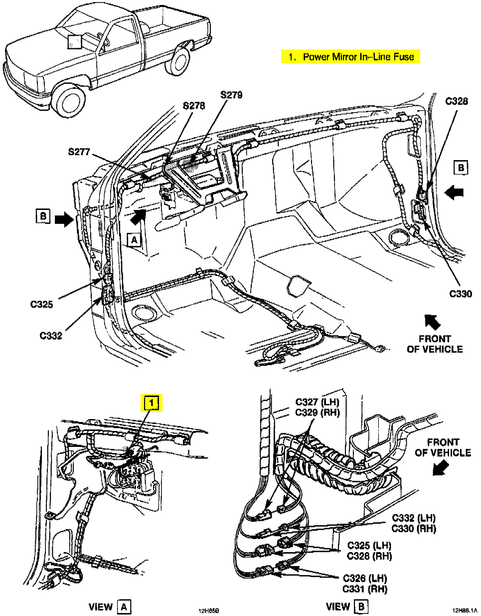 Mirror Wiring Diagram Suburban Reinvent Your Chevy I Need The For Power Mirrors A 1994 Rh Justanswer Com 1993 Gmc 2004 Radio
