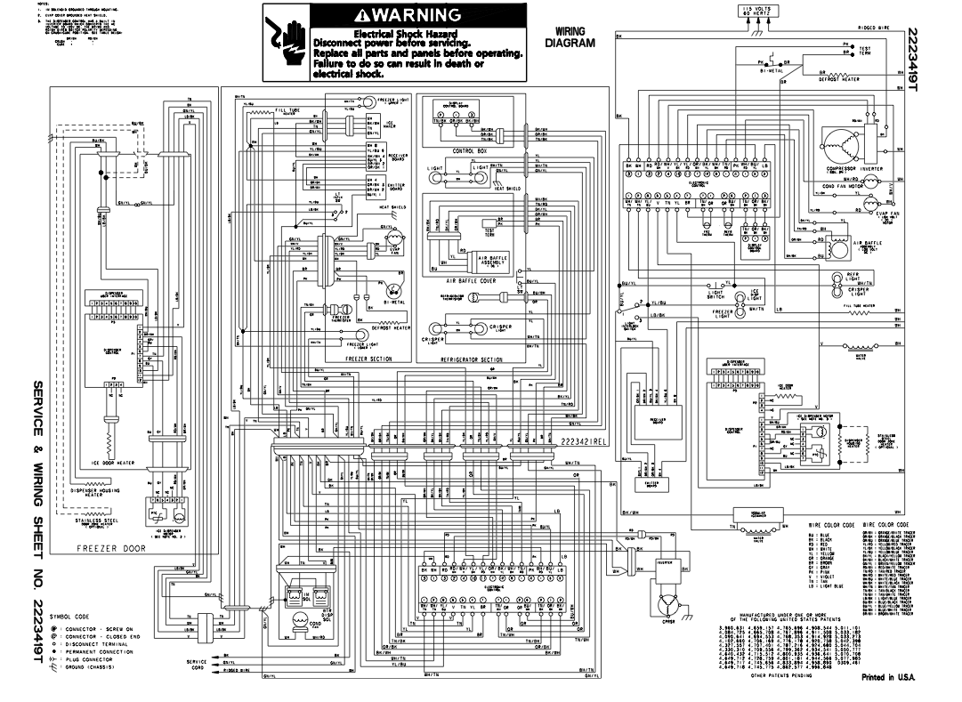 Washing Machine Wiring Diagram Opinions About Panasonic On Kitchenaid Refrigerator Kscs25inss01 The Main Control Board At Back Near Inverter Was And Schematics