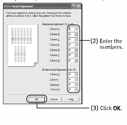 Canon printer i9900: The nozzle check prints only group 2